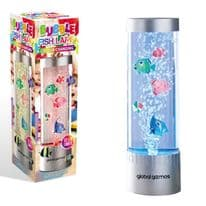 Global Gizmos Bubble Fish Colour Changing Lamp - 32cm
